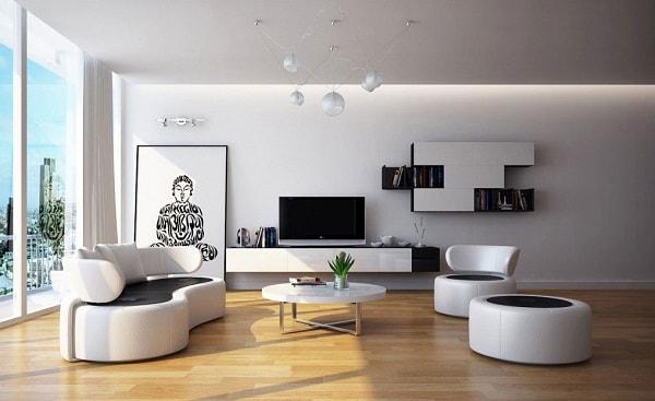 Cách bố trí sofa, bàn trà và kệ tivi hợp lý cho phòng khách 2
